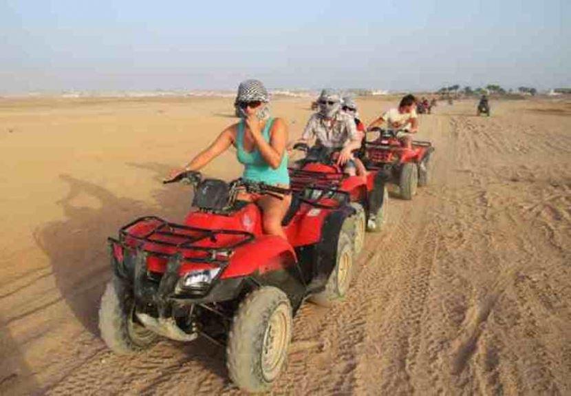 3 Stunden geführte Quad-Safari ab dem  Hafen von Sharm el Sheikh